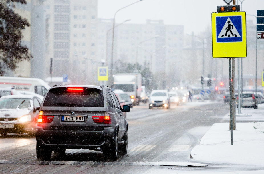 Vilniuje - pirmasis sniegas