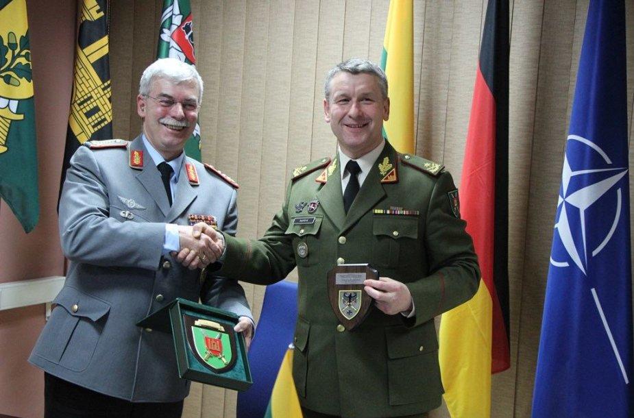 Vilniuje pasirašytas Vokietijos ir Lietuvos sausumos pajėgų bendradarbiavimo raštas