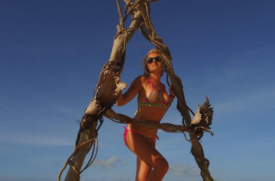 Eglės Jackaitės atostogų Filipinuose akimirka