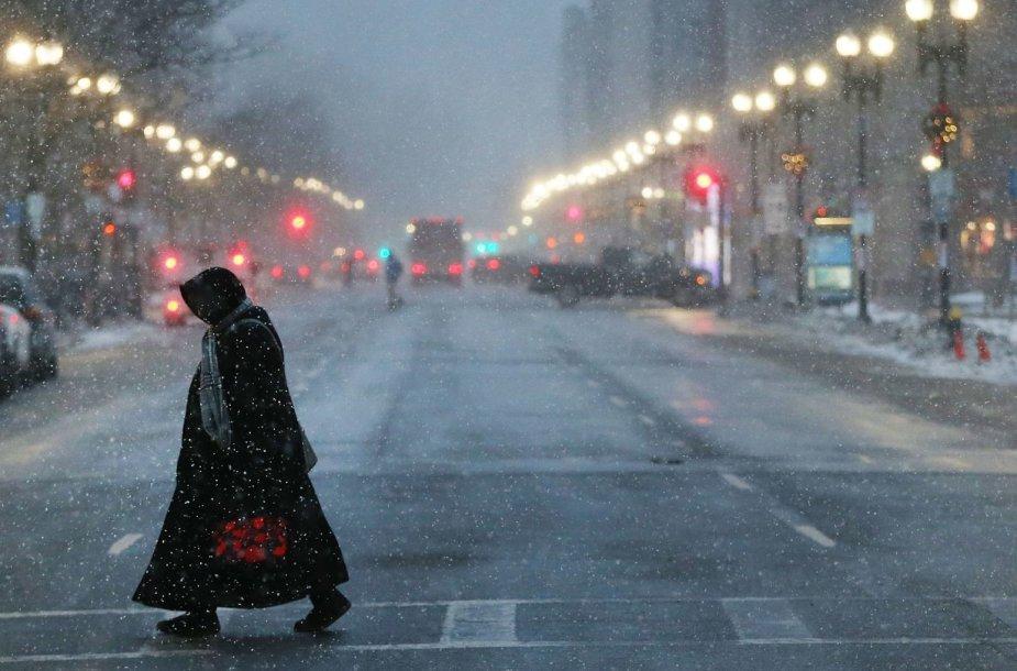 JAV sukaustė žiemos audra