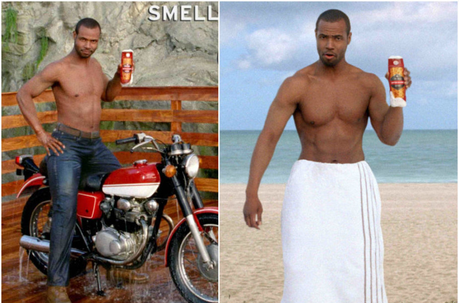 "Isaiah Mustafa ""Old Spice"" reklamoje"