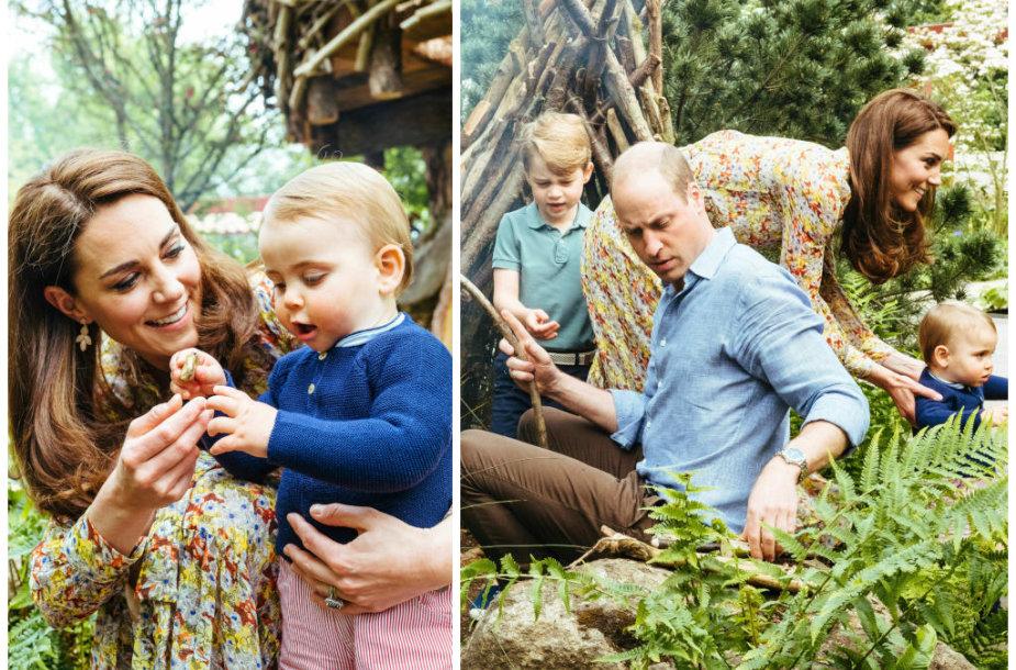 Princas Williamas ir Kembridžo hercogienės Catherine su vaikais