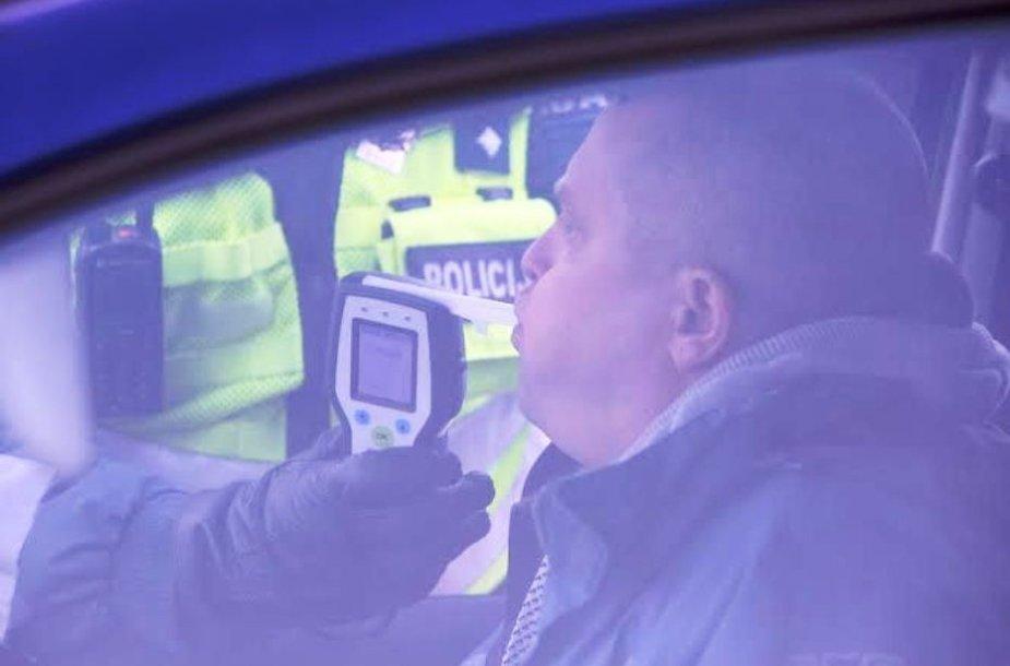 Policijos reidas pajūrio keliuose