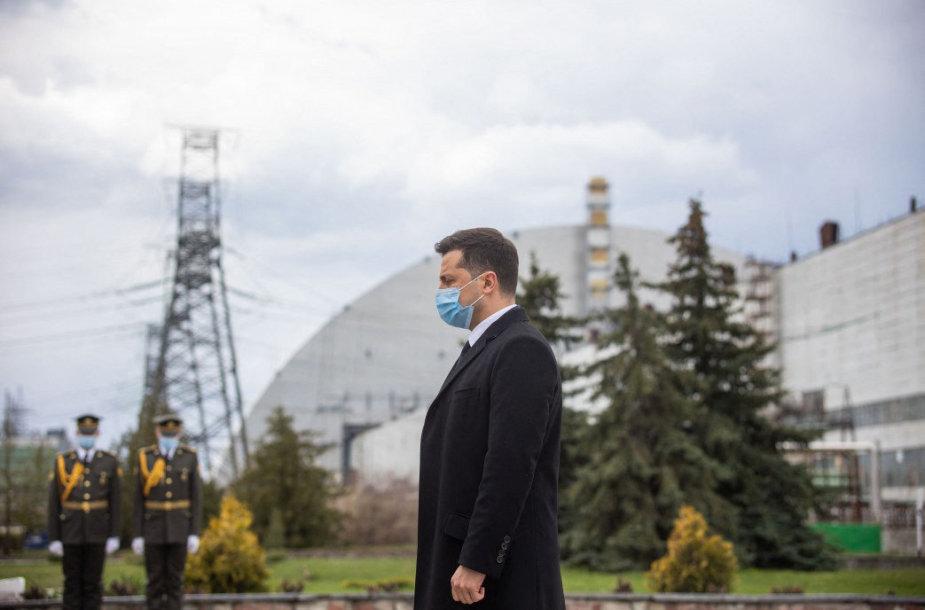 Volodymyras Zelenskis Černobylyje