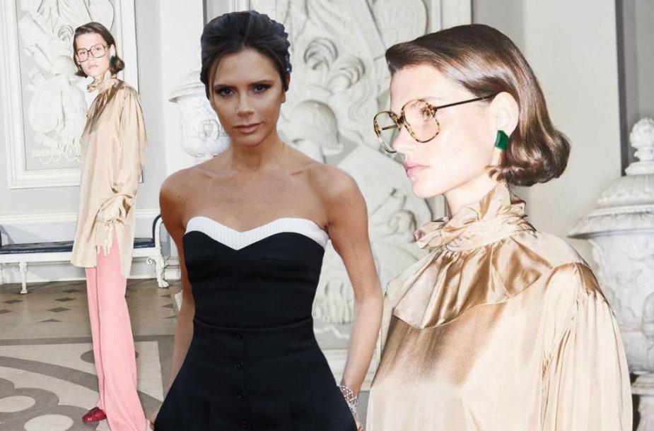 Victoria Beckham ir Giedrė Dukauskaitė, reklamuojanti jos kurtus akinius