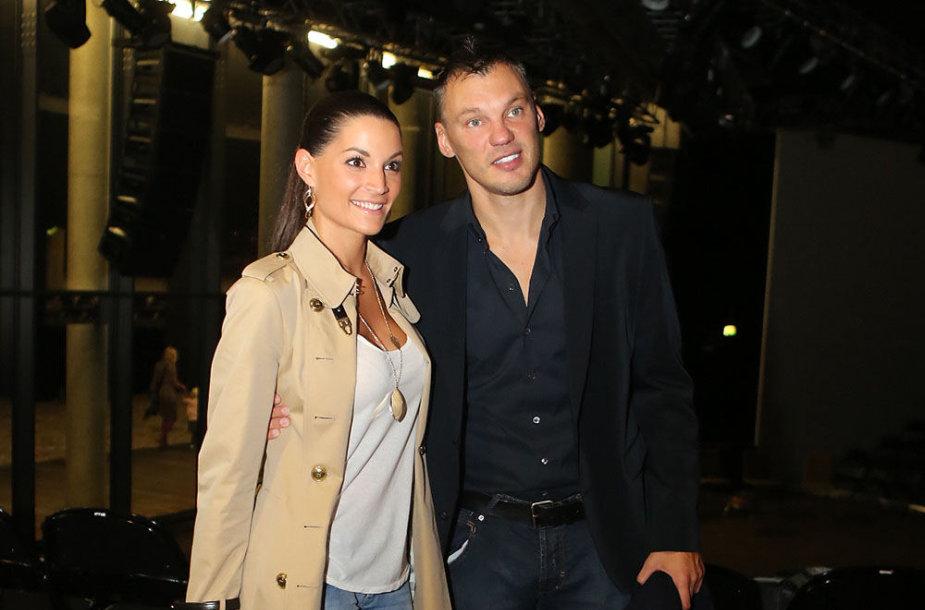 Šarūnas Jasikevičius su žmona Anna Douka