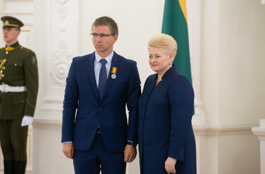 Mykolas Masilionis ir Dalia Grybauskaitė