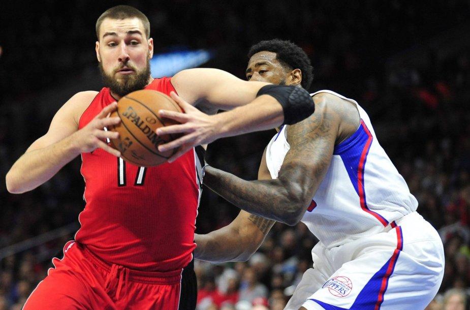 """Jonas Valančiūnas mače su """"Clippers"""""""