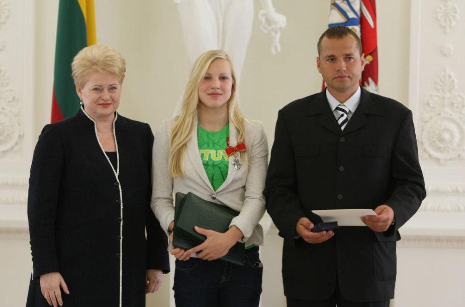 Dalia Grybauskaitė, Rūta Meilutytė, Dalia Grybauskaitė ir Giedrius Martinionis