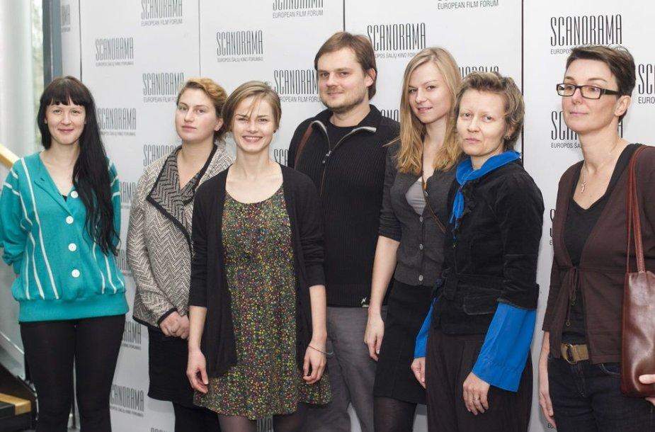 """""""Scanoramos"""" konkursinės programos """"Naujasis Baltijos kinas"""" dalyviai"""