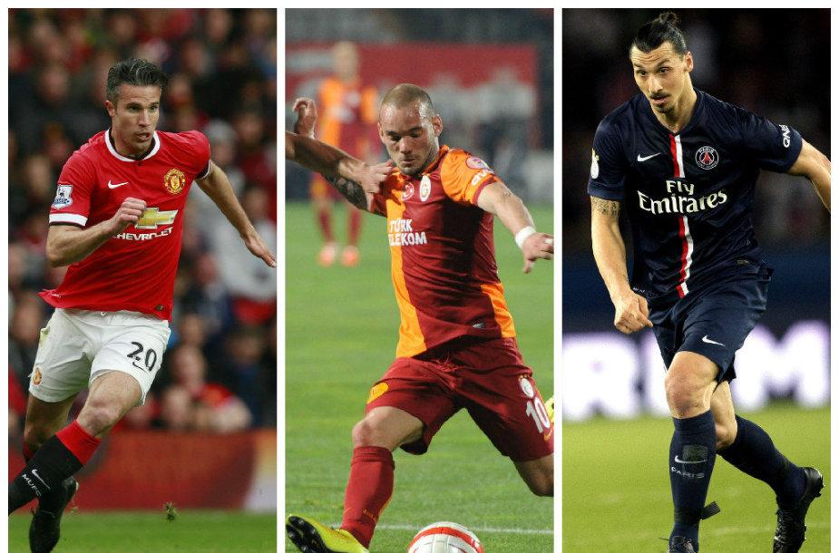 Robinas van Perise, Wesley Sneijderis ir Zlatanas Ivrahimovičius