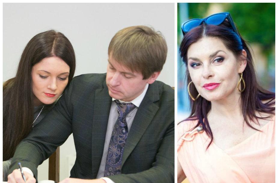 Indrė ir Andrius Bogdanovičiai bei Kristina Kaikarienė