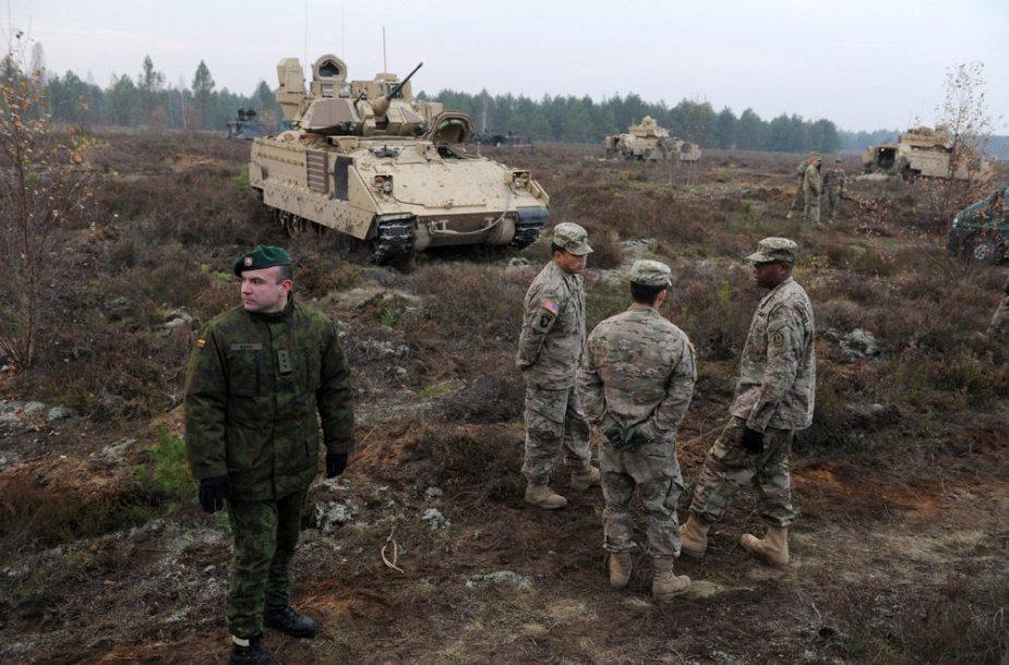 Lietuvos ir JAV karių pratybos Pabradės poligone 2014 m. spalio 30 d.