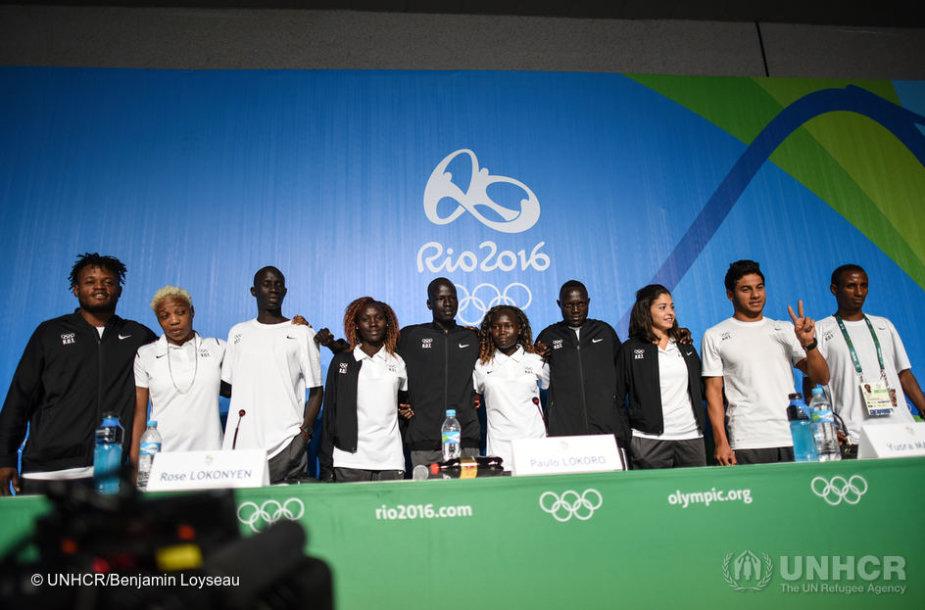 Olimpinės pabėgėlių komandos nariai