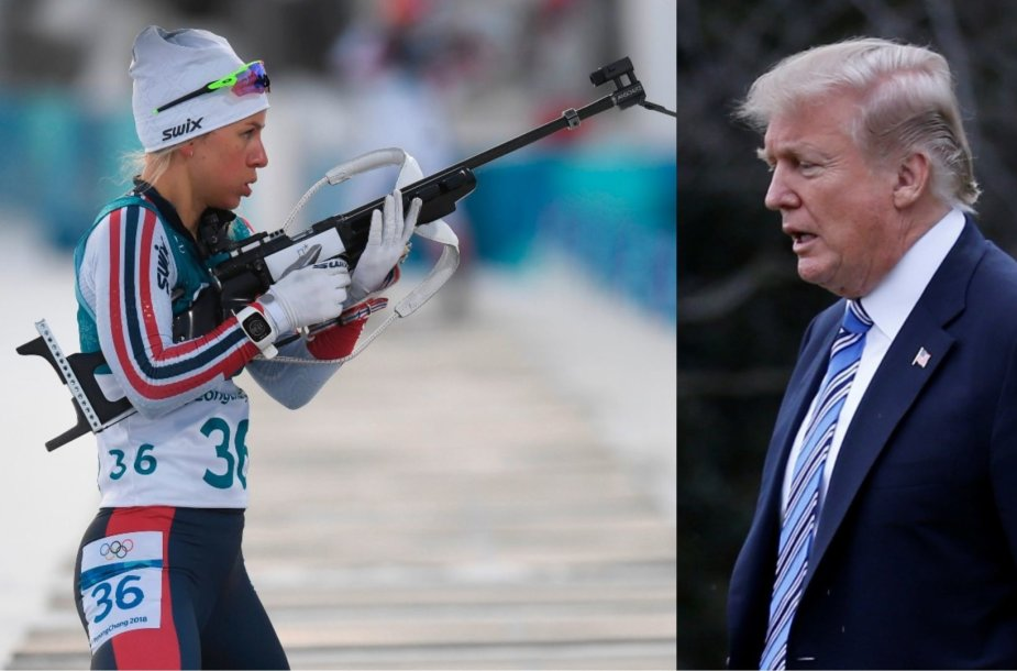 Tiril Eckhoff ir Donaldas Trumpas
