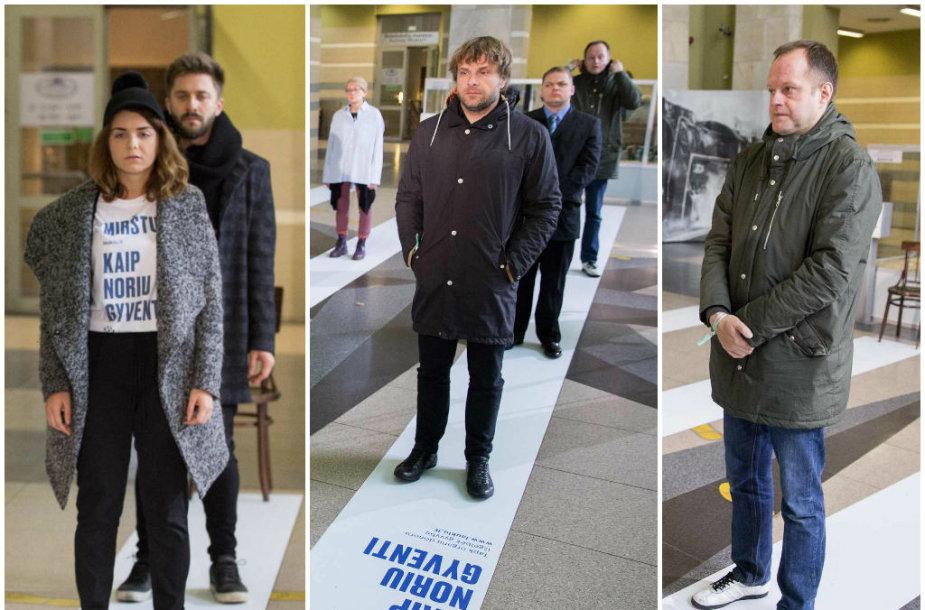 """Jolita Vaitkutė, Benediktas Vanagas ir Rimas Šapauskas performanse """"Mirštu, kaip noriu gyventi"""""""
