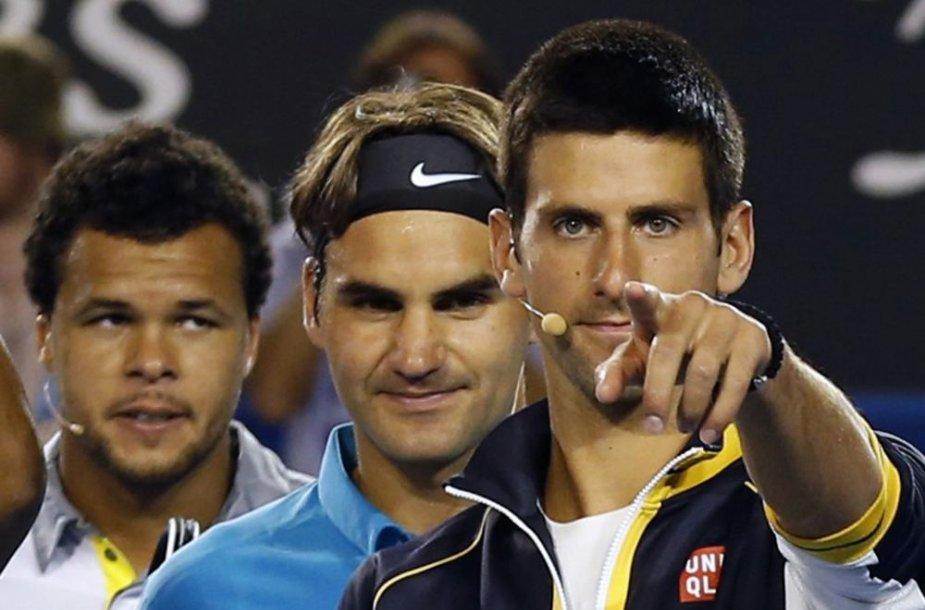 Novakas Džokovičius, Rogeris Federeris, Jo-Wilfriedas Tsonga