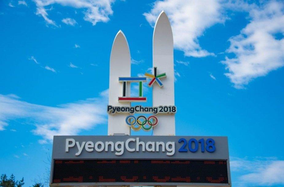 Pjongčango olimpinių žaidynių švieslentė