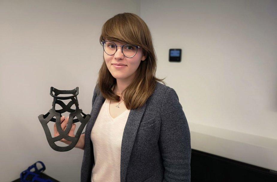 Gintarė Černiauskaitė sukūrė 3D spausdinamus įtvarus