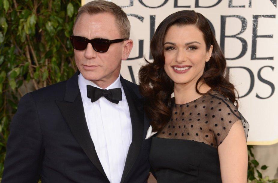 Danielis Craigas su žmona Rachel Weisz