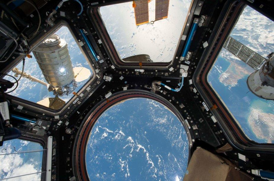 Vaizdas iš tarptautinės kosminės stoties
