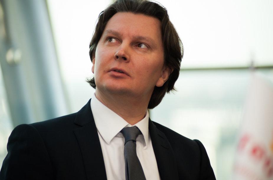 """Naujojo """"Teo LT"""" vadovo Kęstučio Šliužo susitikimas su žurnalistas"""