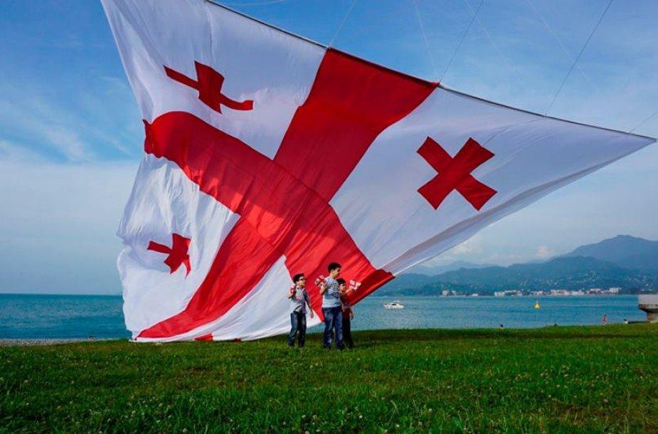 Batumyje į dangų kilo Gruzijos vėliava (Mariaus Abramavičiaus nuotr.)