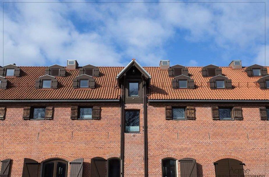Naujas viešbutis ant Danės upės kranto Klaipėdoje.