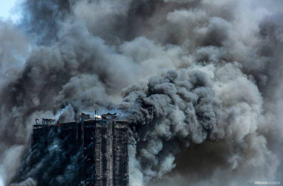 Daugiabučio gaisras Baku