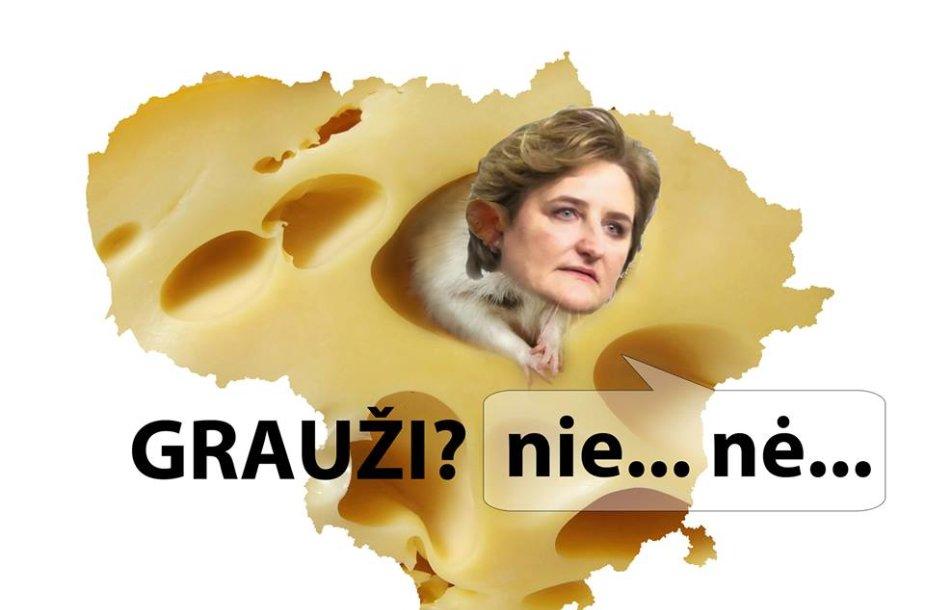 Interneto memas apie L.Graužinienę