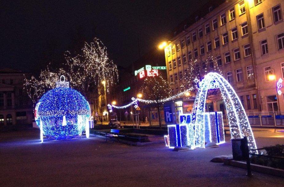 Šventiniai papuošimai Poznanėje