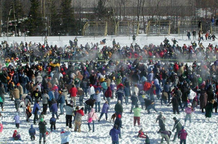Klaipėdoje pirmąkart vyks masinis sniego gniūžčių karas