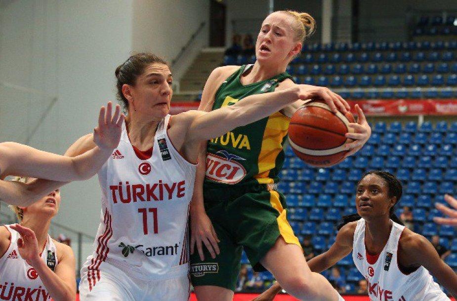 Europos moterų krepšinio čempionatas: Lietuva – Turkija