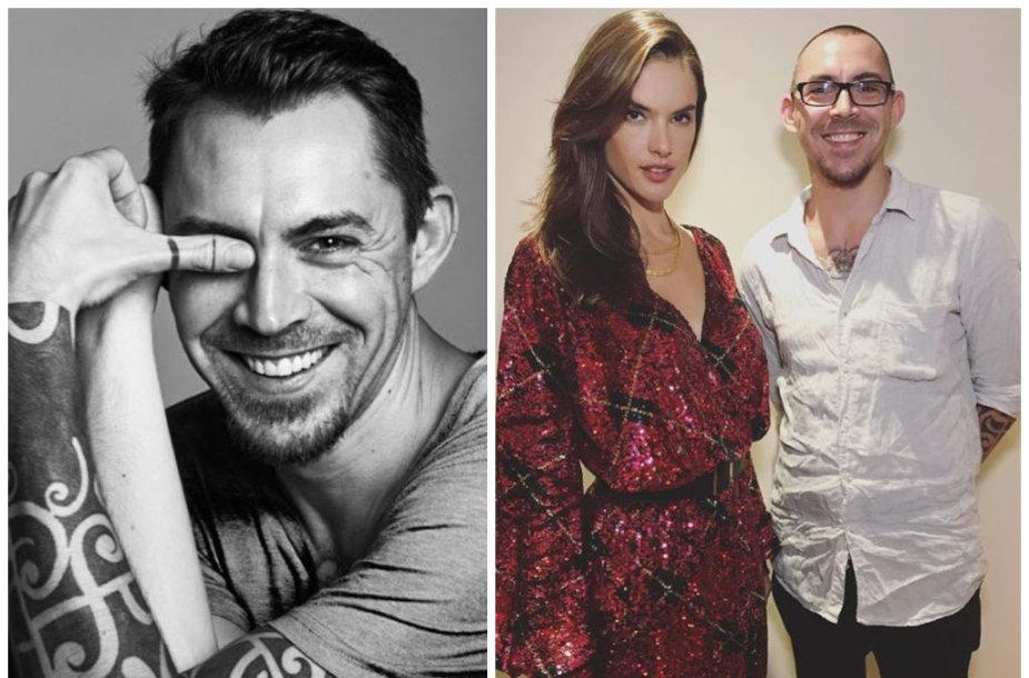 Aurimas Juodiškis su modeliu Alessandra Ambrosio