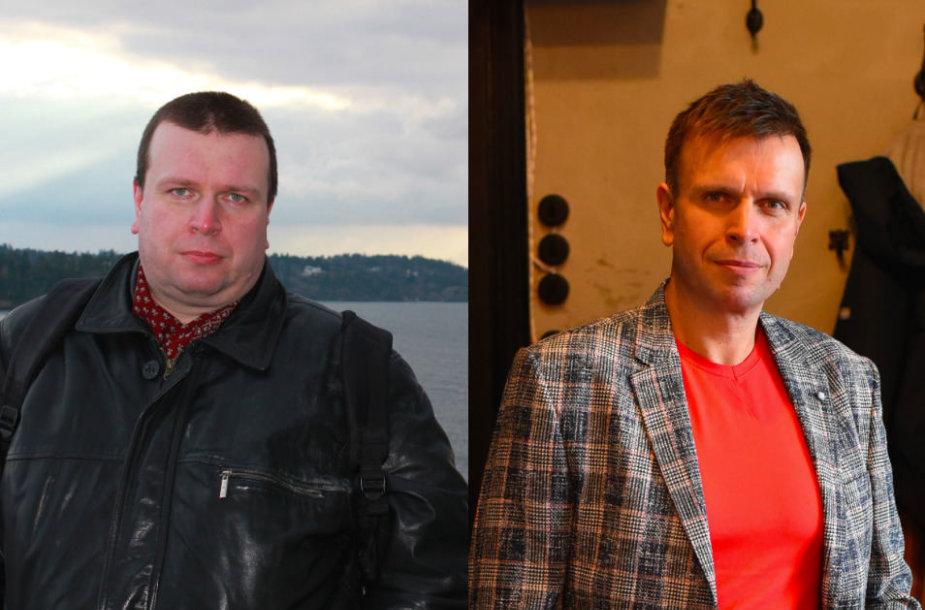 Vadimas prieš ir po dietos