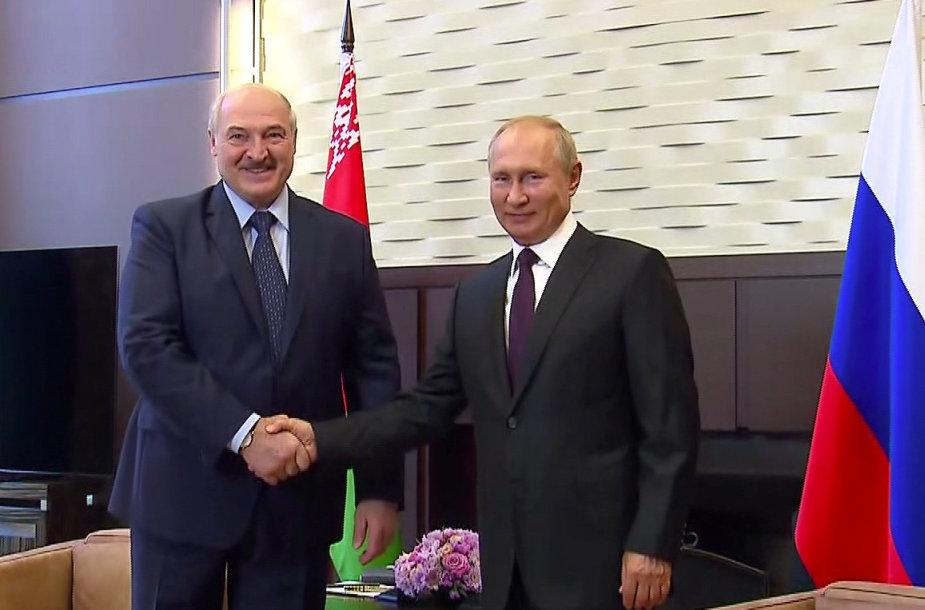 Aliaksandras Lukašenka ir Vladimiras Putinas