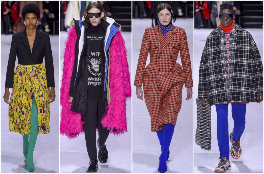 """""""Balenciaga"""" 2018–2019 m. rudens ir žiemos kolekcijos modeliai"""