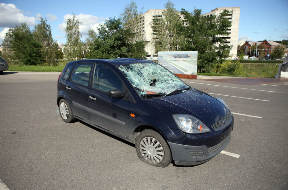 Sudaužytas automobilis