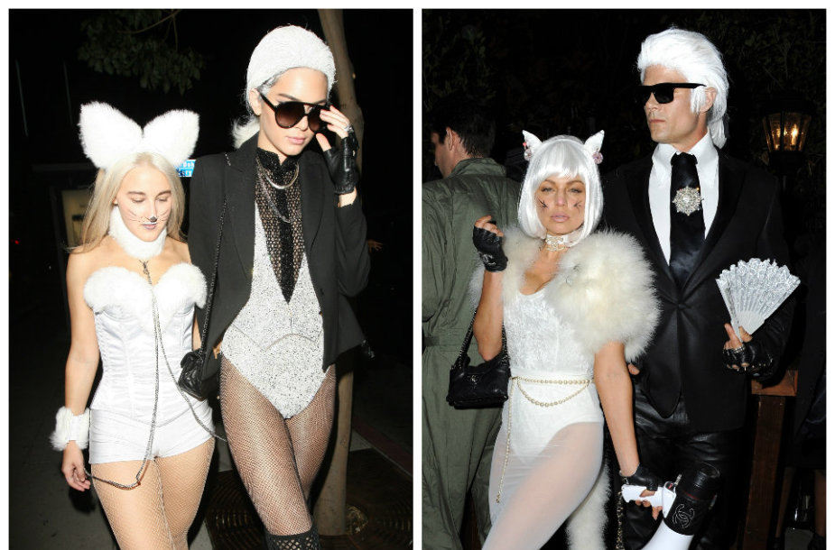 Kendall Jenner su drauge ir Fergie su Joshu Duhameliu
