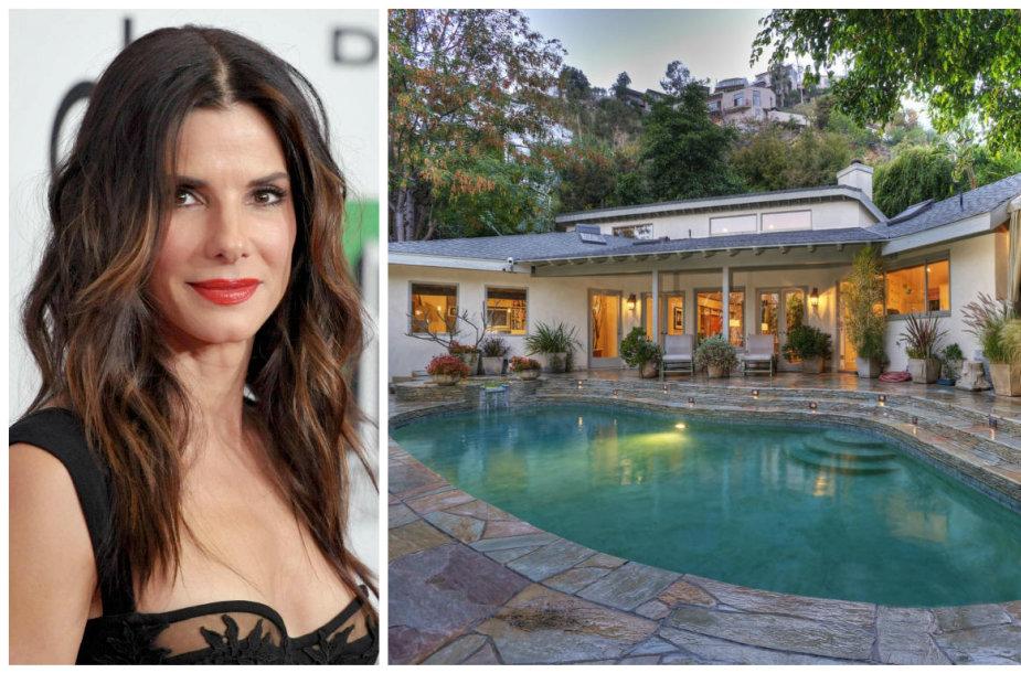 Sandra Bullock išnuomoja namą Holivude
