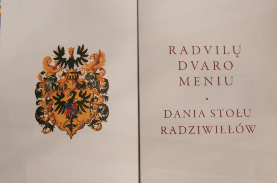 """Knyga """"Radvilų dvaro meniu"""""""