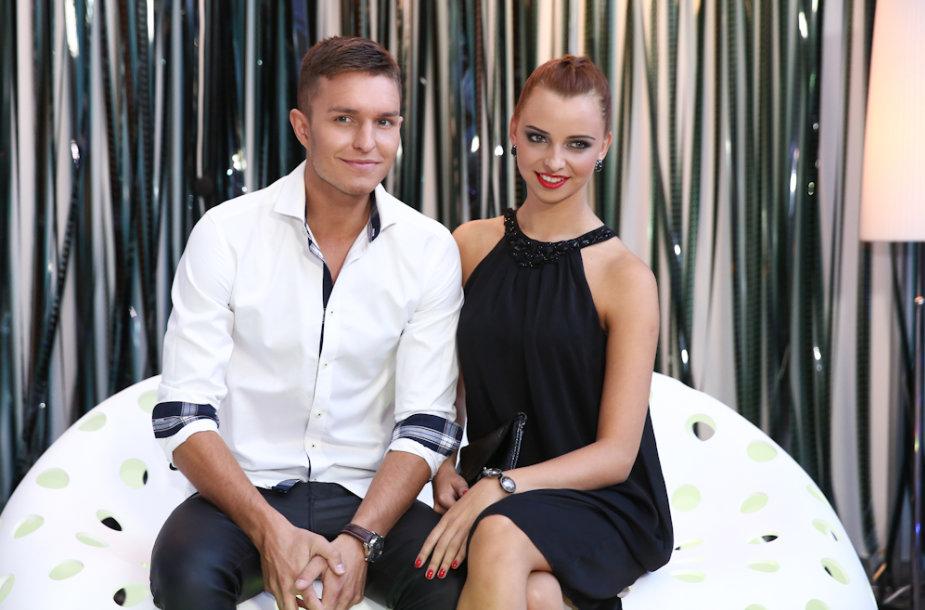 Martynas Kavaliauskas su drauge Rusne