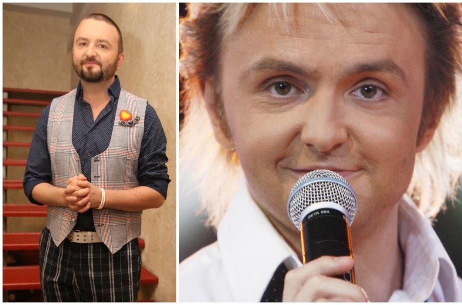 """Stanislavas Stavickis-Stano 2018 ir 2007 metais, kai buvo """"Delfinų"""" vokalistas"""