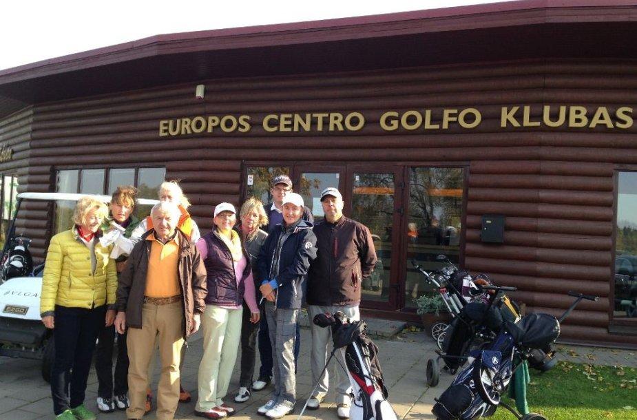 Pasaulinio viengungių golfo klubo nariai su Europos centro golfo klubo nariais