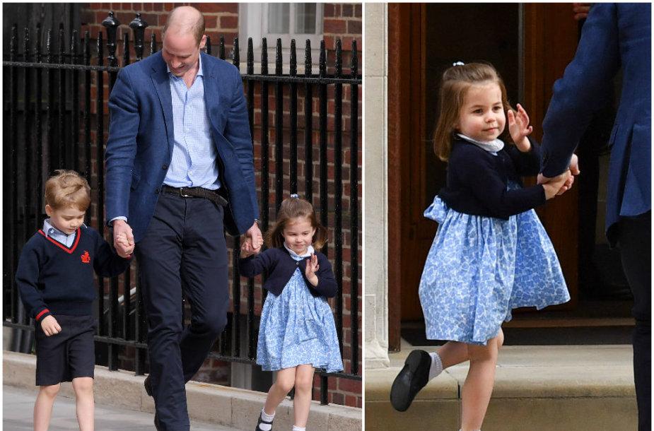 Princas Williamas su vaikais George'u ir Charlotte
