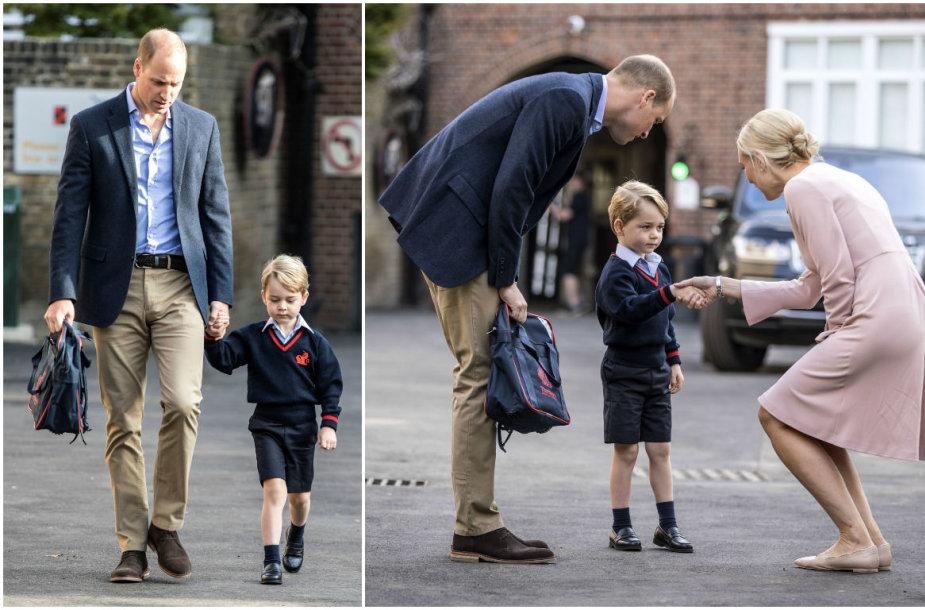 Princas Williamas su sūnumi princu George'u