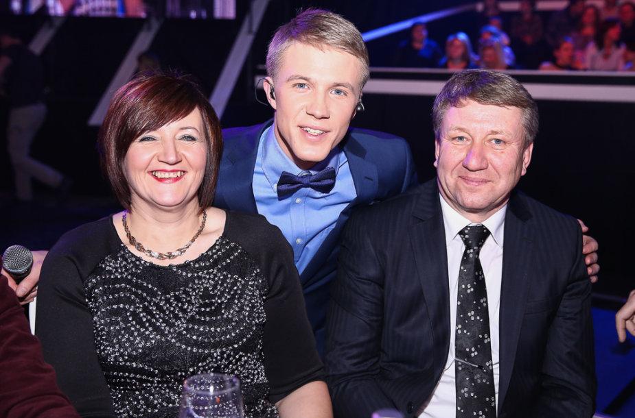 Paulius Bagdanavičius ir tėvais