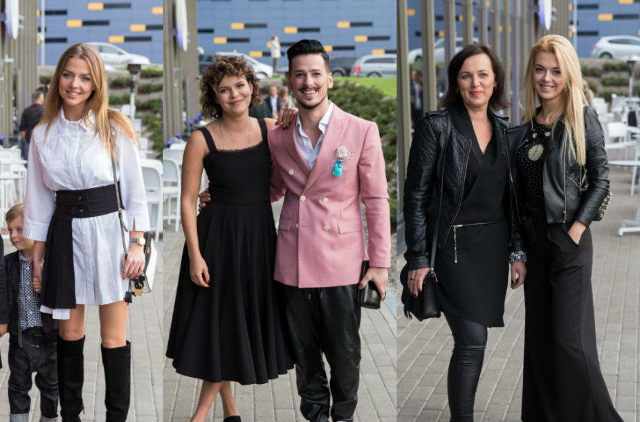 Vaida Skaisgirė su sūnumi Atu, Urtė Mikelevičiūtė ir Sigitas Praspaliauskas, Justina Stambrauskaitė su mama Inga