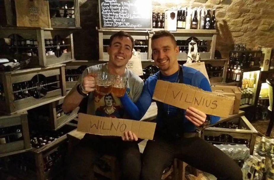 Draugai laukia Wojteko bare Vilniuje