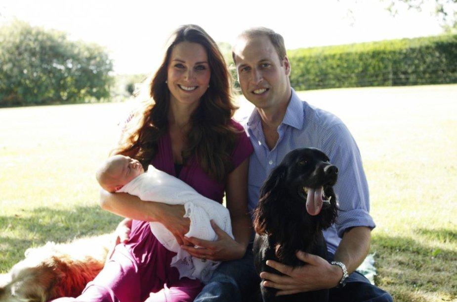 Princas Williamas, Kembridžo hercogienė Catherine ir princas George'as